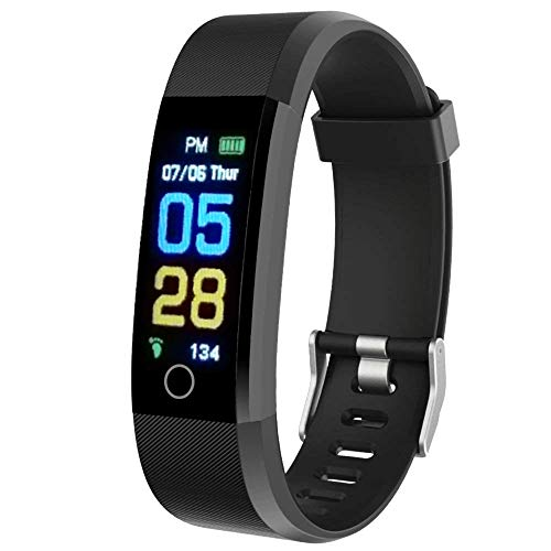 ErgonGear Fitness Tracker Watch with Heart Rate and Blood Pressure Monitor HR BP, Step and Calorie Counter, IP67…