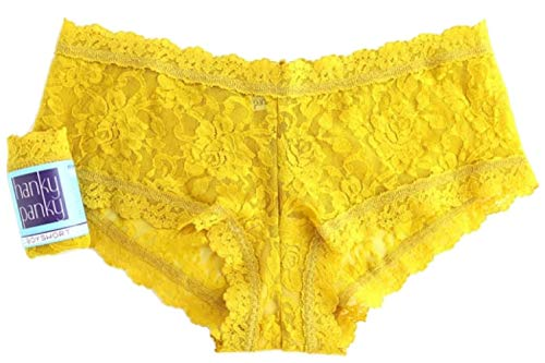 Boys Panties In (Hanky Panky Womens Signature Lace Boyshort, Topaz, Size Large)