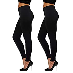 Premium Womens Fleece Lined Leggings High Waist Regular And Plus Size 20 Colors