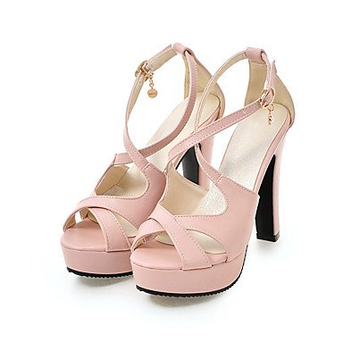 LvYuan Mujer Sandalias Semicuero Primavera Verano Otoño Perla de Imitación Hebilla Tacón Stiletto Blanco Negro Azul Rosa 10 - 12 cms blushing pink