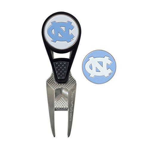 North Carolina Tar Heels CVX Golf Ball Mark Repair Tool and 2 Ball Markers