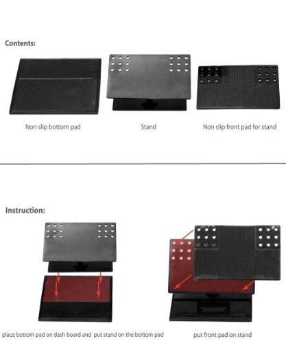Xenda Universal Rotating Dash Smart Stand Car Mount Dashboard Holder with Sticky Mats for LG Optimus Black, LG Optimus 2 , LG Spectrum, LG Lucid 4G, LG Venice, LG Thrill 4G by Xenda (Image #5)