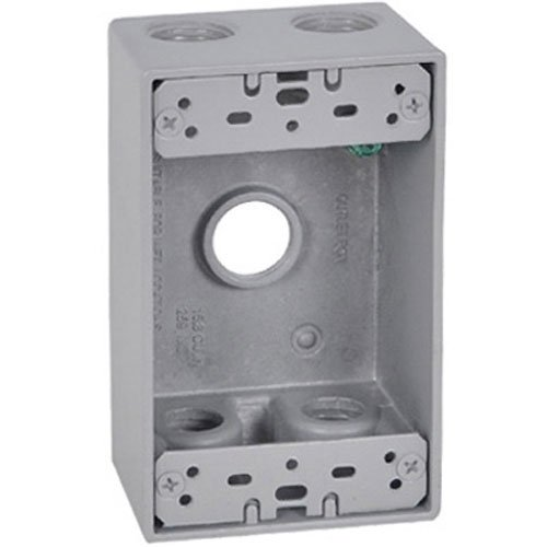 Master Electrician FSB50-5 Weatherproof 1 Gang Rectangular Outlet Box Five 1/2-Inch ()