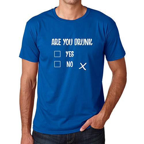 (are You Drunk ? - Funny Novelty Graphic Adult Drinking Beer Bar Party Humor - Premium Men's Tshirt (Royal Blue, XX-Large))