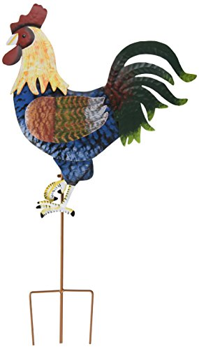 Maple Lane Creations Rooster Metal Garden Stake