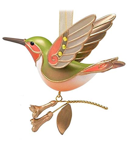 2018 Hallmark Hummingbird Surprise Golden Tone Beauty of Birds REPAINT Mystery Ornament! ()