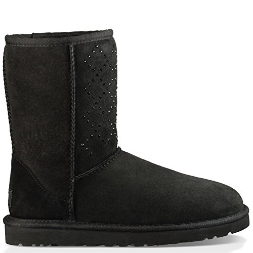 UGG Women's Classic Short Crystal Diamond Boot Black Size 7 B(M) US - Uggs Boots Women Size 7