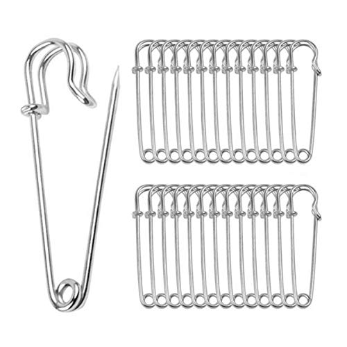 (ReachTop Heavy Duty Safety Pins, Pack of 30 Large 2.76