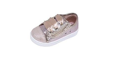 Zapatillas Lona NIÑA Rosa Nude Lazo ZAPY: Amazon.es: Zapatos y complementos