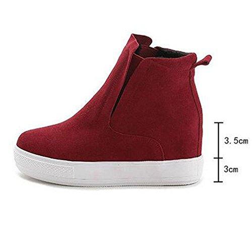 corto 35 femenina Moda de Scrub 34 cuero red RED botas genuino NSXZ 0Fwz5qWw