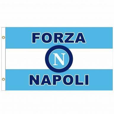 Napoli SSC Crest Flag
