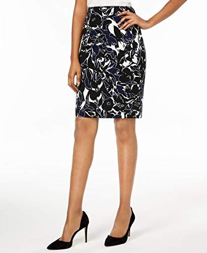 - Kasper Women's Abstract Printed Crepe Skirt, Indigo Multi 16