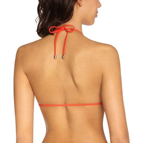 Calvin Klein - Parte superior del bikini para mujer Rojo (Fiery Red)