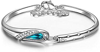 Kami Idea Bracelet pour Femme Cendrillon composé de Cristaux Swarovski, Livré dans Une Boîte Cadeau Bijoux, Test Sgs Passé sans Nickel