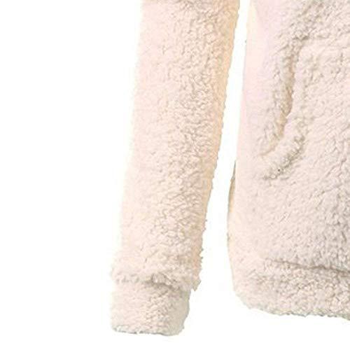 Cálido Beige Mujer Parka Con Abrigos Chaqueta Casual Abrigo Suelto Escudo Cremallera Capucha Para Outwear Suéter De Invierno Algodón Mujeres FwwqPUA5