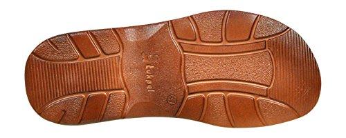 Comode Scarpe Bufalo Modello Cognac Ortopediche di Pelle 860 Vera Calzature Sandali axqA0xZ