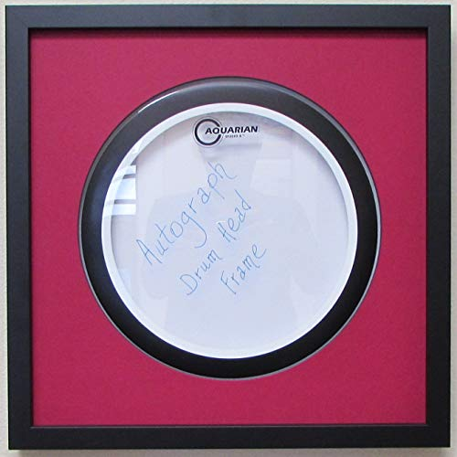 14 drum head display frame set black frame easy mount red matting. Black Bedroom Furniture Sets. Home Design Ideas