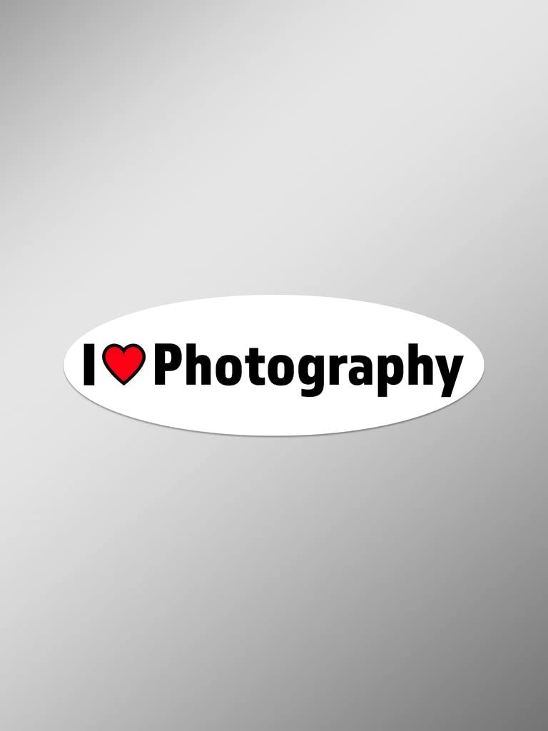 I Love Photography Vinyl Decals Stickers (Two Pack) | Cars Trucks Vans Windows Walls Laptop Cups | Printed | 2-5.5 Inch Decals | KCD1436