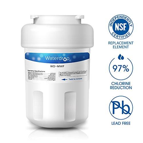 Waterdrop MWF Refrigerator Water Filter Replacement for GE MWF, MWFP, MWFA, GWF, GWFA, SmartWater, Kenmore 9991, 46-9991, 469991