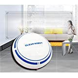 (Lowest Price Sweeping Machine Robot,QGhead Convenient Intelligent Navigated Household Sweeping Machine Robot,Cleaner Vacuum Floor Dust Hair,Super Strong Suction and App. (White)