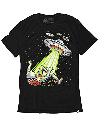 INTO THE AM Beamed Up Men's Graphic Tee Shirt (Black, Large) ()