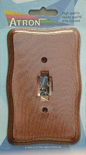 Runwireless Provincial Tavern Oak Wood Wall Plate/Switch Plate - 4-431 (Single ()