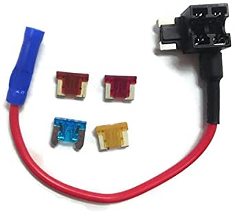 Mini Blade Fuse Tap Holder Add A Circuit Line Mini Low Profile ATM + 5A 7.5A 10A 15A, Car Add a Fuse Automotive Car