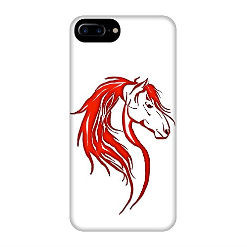 Coque Apple Iphone 7+ - Tête cheval tribal Rouge