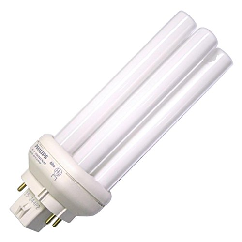 Philips Lighting 458273 PL-T Linear Compact Fluorescent Lamp 27 Watt 4-Pin GX24q-3 Base 1750 Lumens 80 CRI 4100K Cool White (4 Pin Base 4100k Cool)