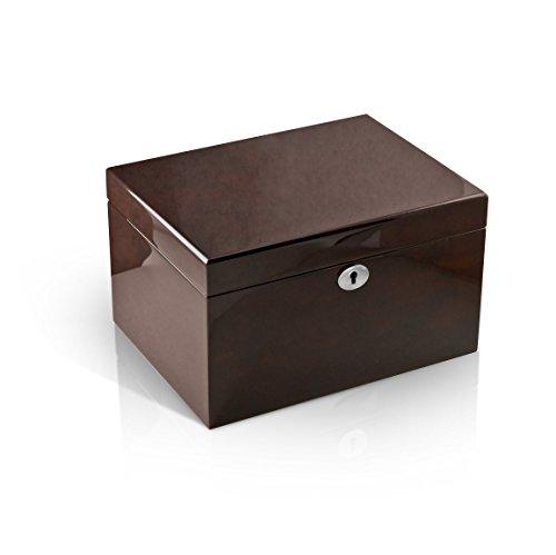 Modern Hi Gloss Coffee Tone 36 Note Music Jewelry Box - For Sentimental Reasons (Gloss Coffee)