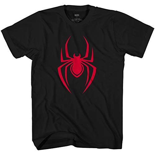Marvel Spiderman Spider-Man Symbol Logo Adult T-Shirt(Black,XXL)