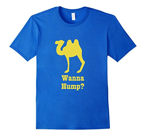 Mens Wanna Hump Funny Camel T Shirt Medium Royal Blue