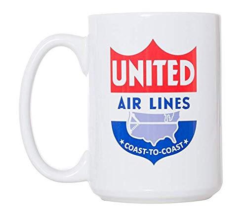 Large 15 oz Double-Sided Coffee Tea Mug (United Air Lines) ()