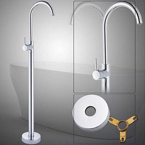 DXX-HR ブラックブロンズ無料立ちバスタブ蛇口浴室浴槽シンクタップ真鍮回しスパウトクローフロアタブミキサー蛇口107 * 17mmのChromeをマウント