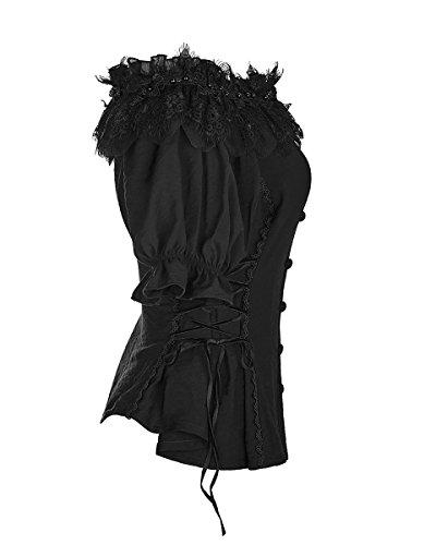 Corte Donna Rave Maniche Punk Camicia SBtf4