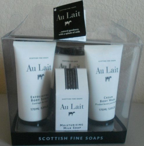 Scottish Fine Soaps Au Lait 4 in 1 Gift Set