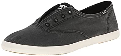 Keds Women's Chillax Washed Laceless Slip-On Sneaker, Charcoal, 5 M US