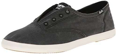 Shoes Keds Shoe - Keds Women's Chillax Washed Laceless Slip-On Sneaker,Charcoal,7 M US