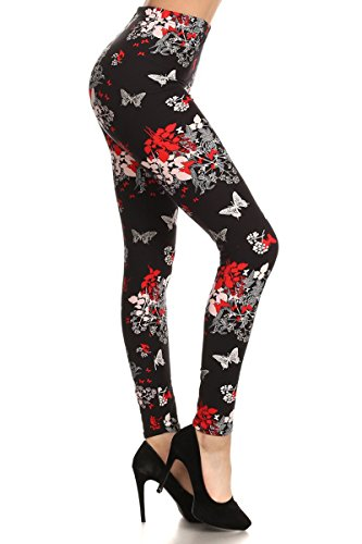 R595-OS Superfemme Print Fashion Leggings 3 Piece Plaid Sweater