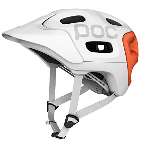 POC Trabec Race Helmet, White/Orange, X-Large-XX-Large/59-62