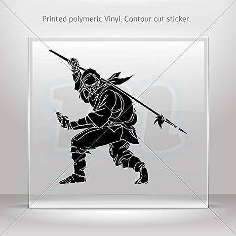 Amazon.com: Decals Decal Ninja Warrior Fighting Motorbike ...