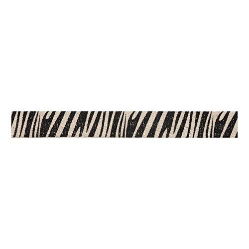 negro Natural Bowtique cinta 5 m x 15 mm dise/ño de estampado de cebra