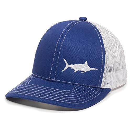 (Fish Silhouettes Trucker Hat - Adjustable Baseball Cap w/Snapback Closure)