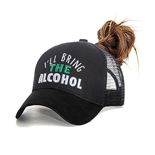 HADM Glitter Ponytail Messy High Buns Baseball Caps Adjustable Ponycap Womens Hats Baseball Caps