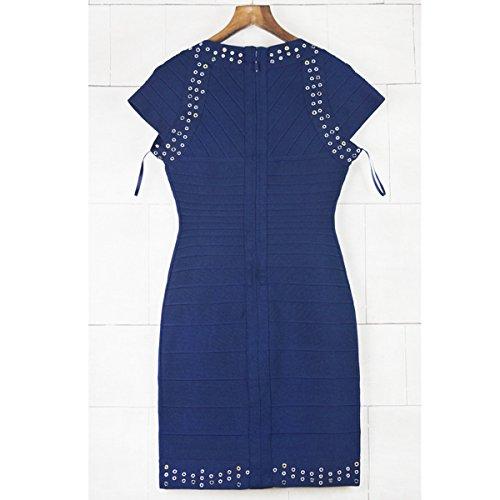 Damen rot Rot Blau 36 Kleid HLBCBG AdT6qA