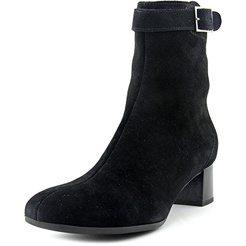 La Canadienne Jasmin Women Square Toe Suede Ankle Boot Black Suede ecpSOdZqy