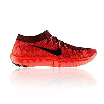 online retailer 732a7 ed8ce Womens Nike Free 3.0 Flyknit Orange Trainers 636231 602 UK ...