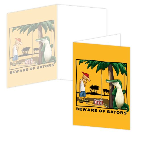 EcoEverywhere Beware of Gators Boxed Card Set, 12 Cards a...