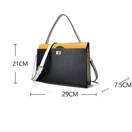 Hit Sac à Main PU Fashion Couleur BAILIANG à Womens Crossbody Bandoulière Black Sac HwzxqEc4n