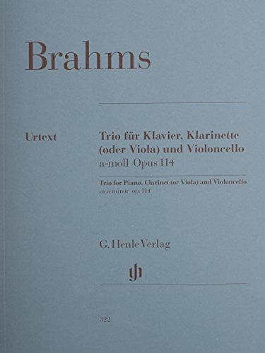 Trio For Piano Clarinet (Or Viola) And Violoncello In A Minor Op114